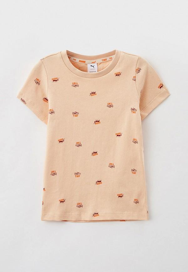 футболка puma малыши, бежевая