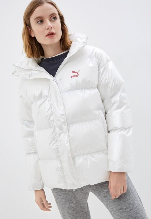 женская спортивные куртка puma, белая