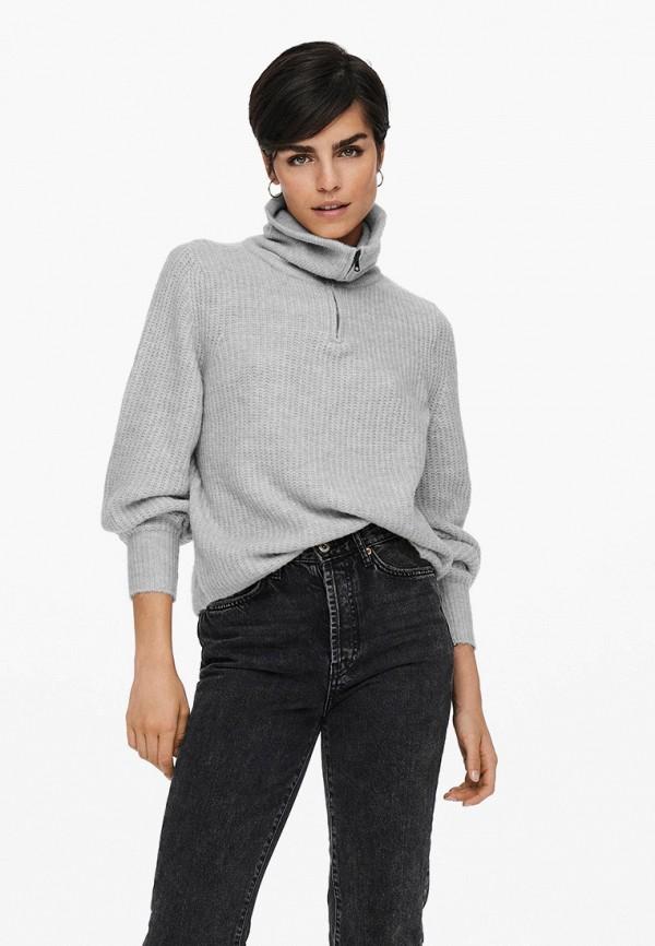 женский свитер only, серый