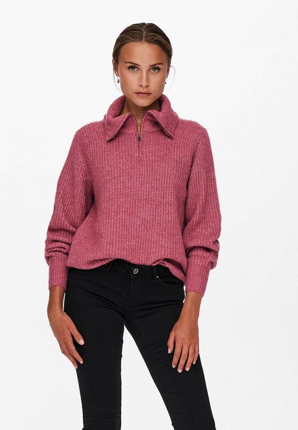 женский свитер only, розовый