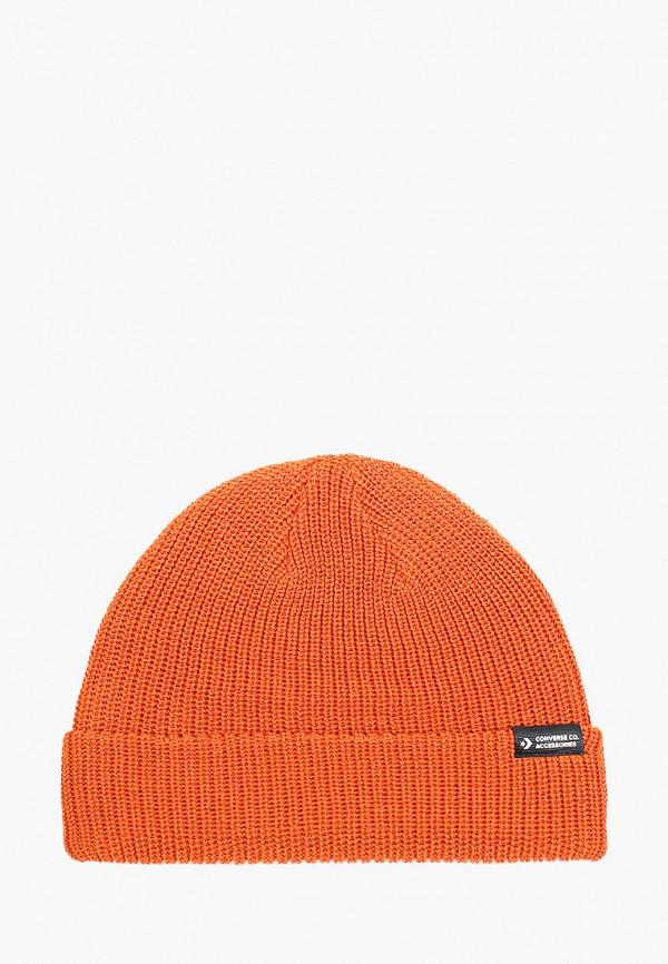 женская шапка converse, оранжевая