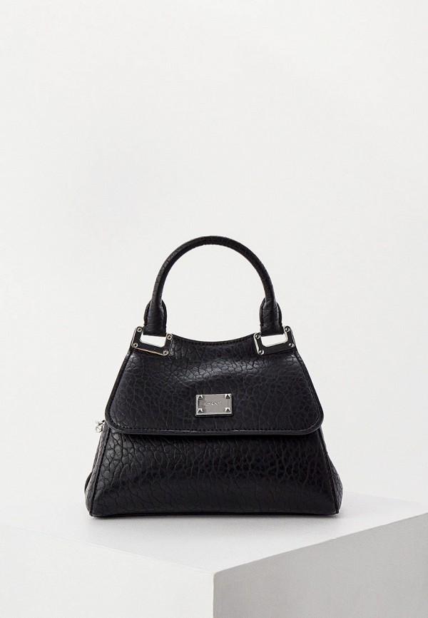 женская сумка с ручками dkny, черная