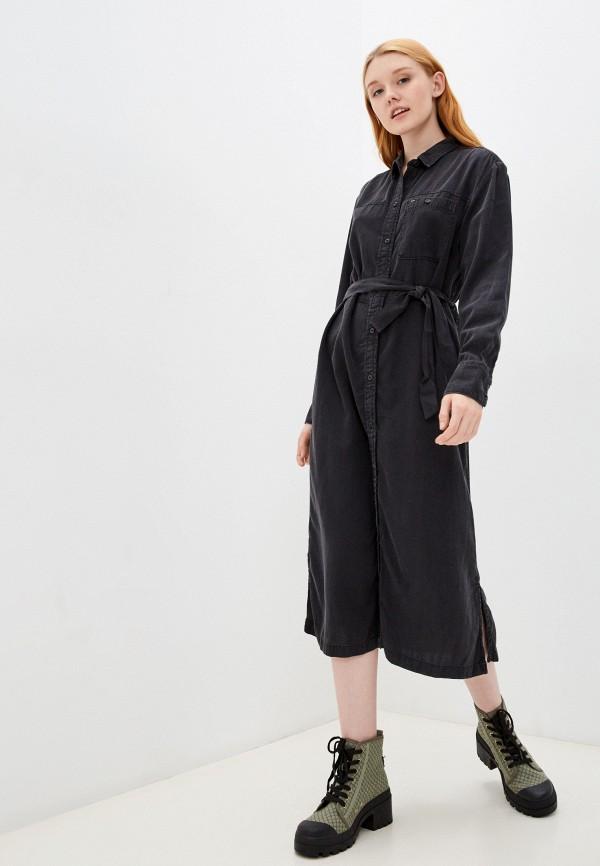 женское платье-рубашки lee, черное