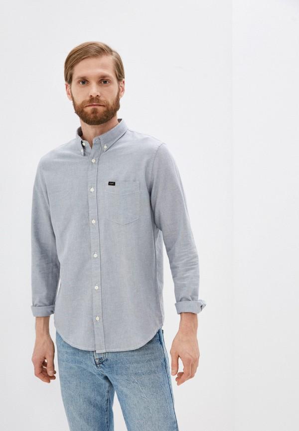 мужская рубашка с длинным рукавом lee, серая