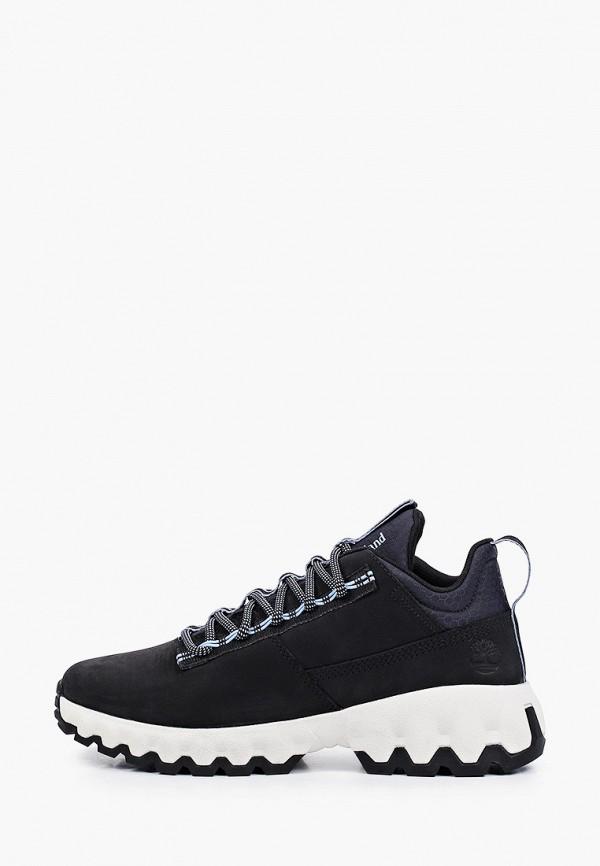 женские низкие ботинки timberland, синие