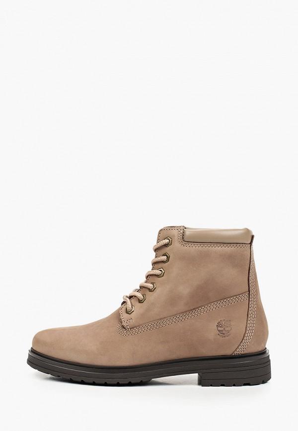 женские высокие ботинки timberland, серые