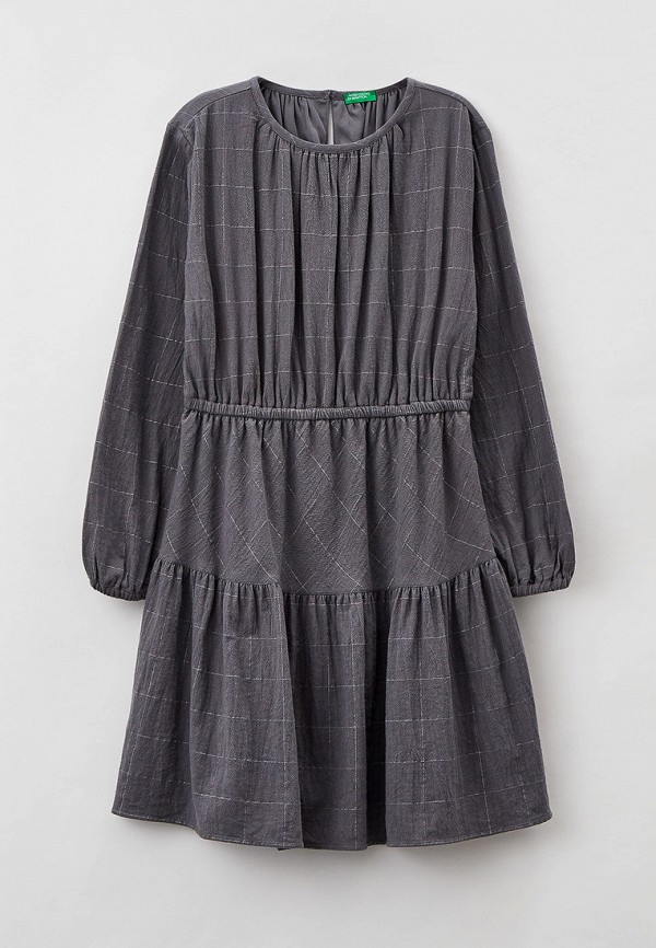 повседневные платье united colors of benetton для девочки, серое
