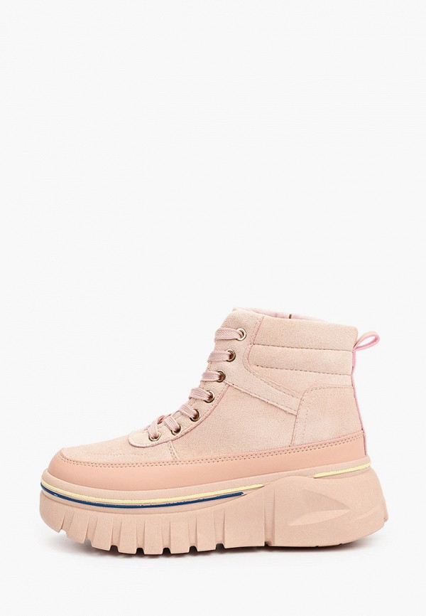 женские высокие ботинки diora.rim, розовые