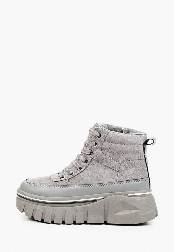 женские высокие ботинки diora.rim, серые