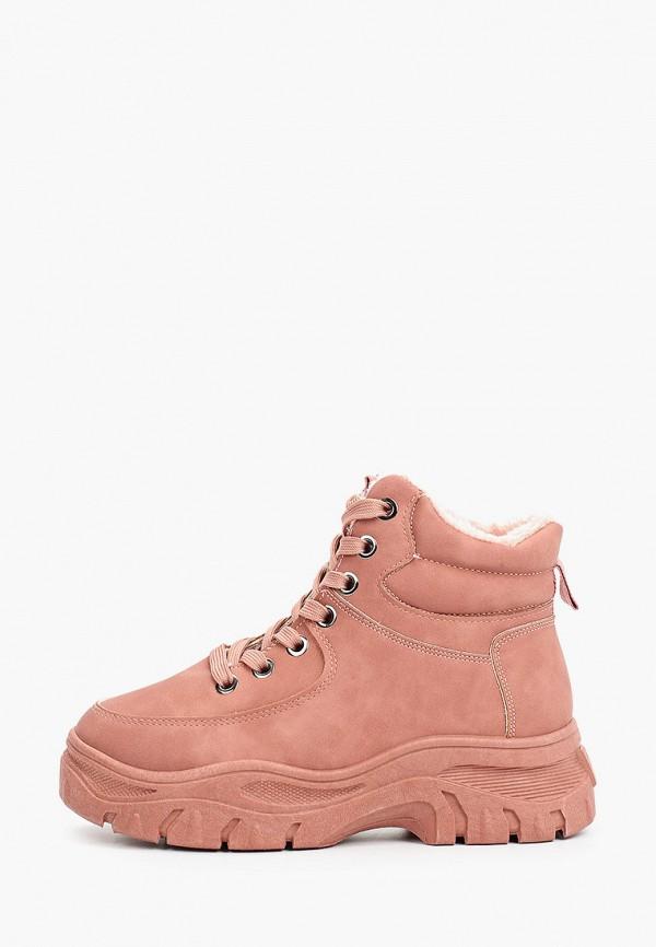 женские высокие кроссовки diora.rim, розовые