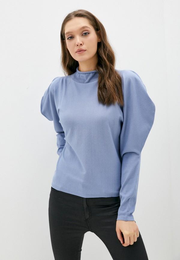 женская водолазка sisley, синяя