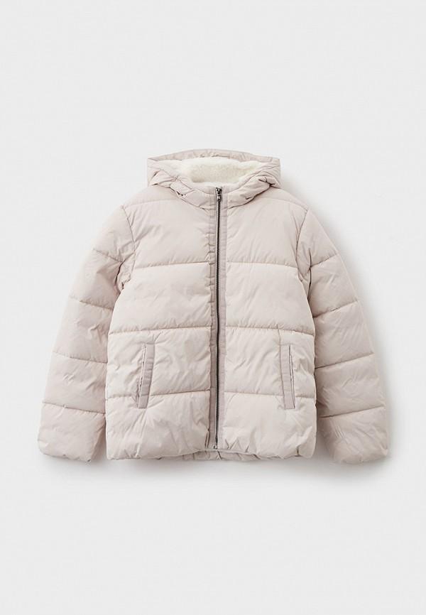 утепленные куртка united colors of benetton для девочки, бежевая