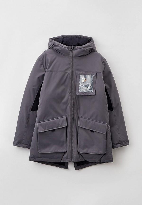 утепленные куртка united colors of benetton для мальчика, серая