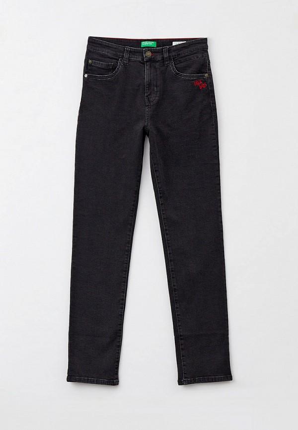 зауженные джинсы united colors of benetton для мальчика, черные