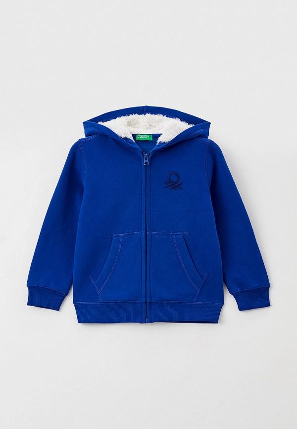 толстовка united colors of benetton для мальчика, синяя