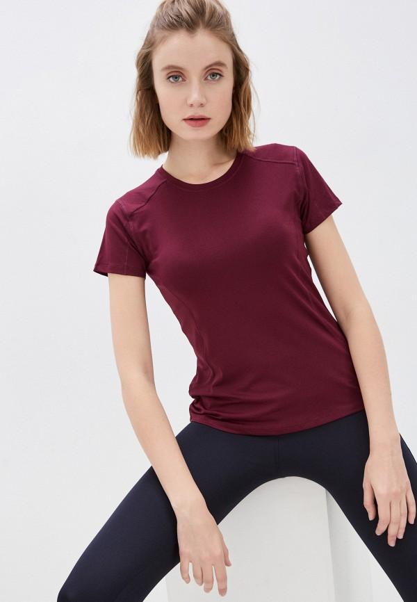 женская спортивные футболка marks & spencer, бордовая