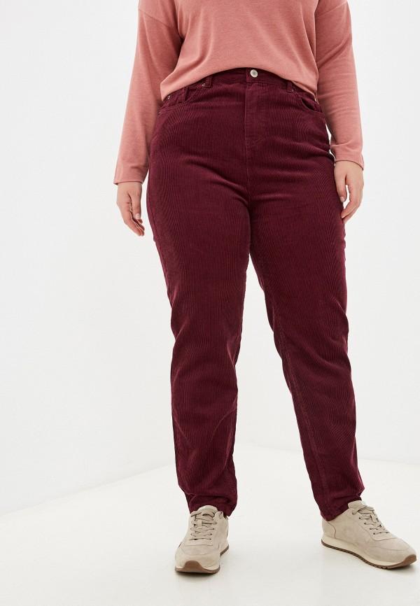женские повседневные брюки marks & spencer, бордовые