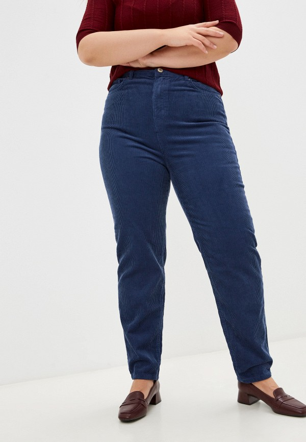 женские повседневные брюки marks & spencer, синие