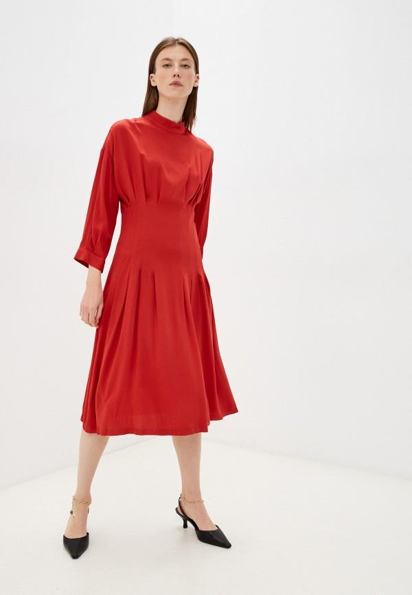 женское повседневные платье united colors of benetton, красное
