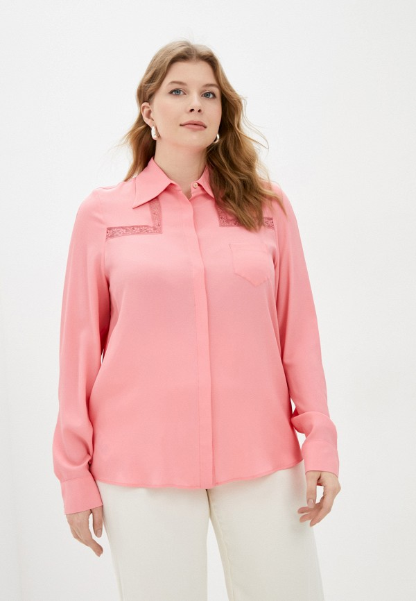 женская блузка с длинным рукавом elena miro, розовая