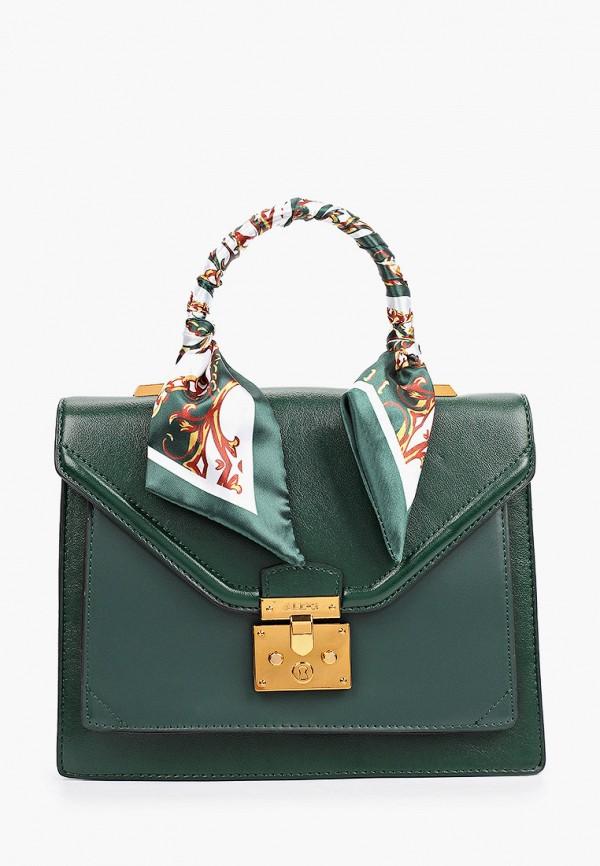 женская сумка с ручками aldo, зеленая