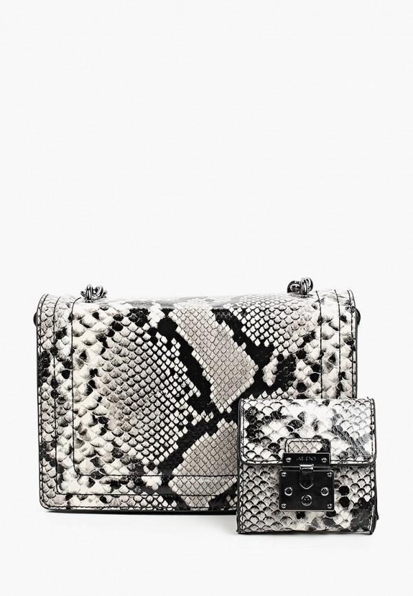 женский кошелёк с ручками aldo, серый