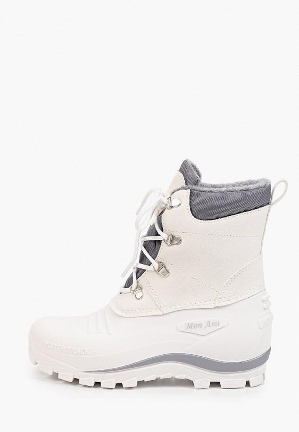 женские высокие ботинки mon ami, белые