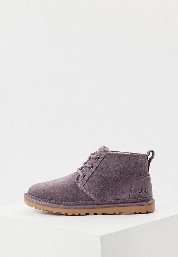 женские высокие ботинки ugg, серые