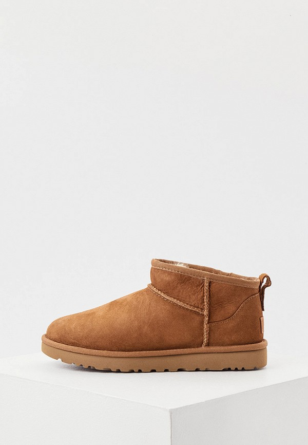 женские ботинки ugg, бежевые