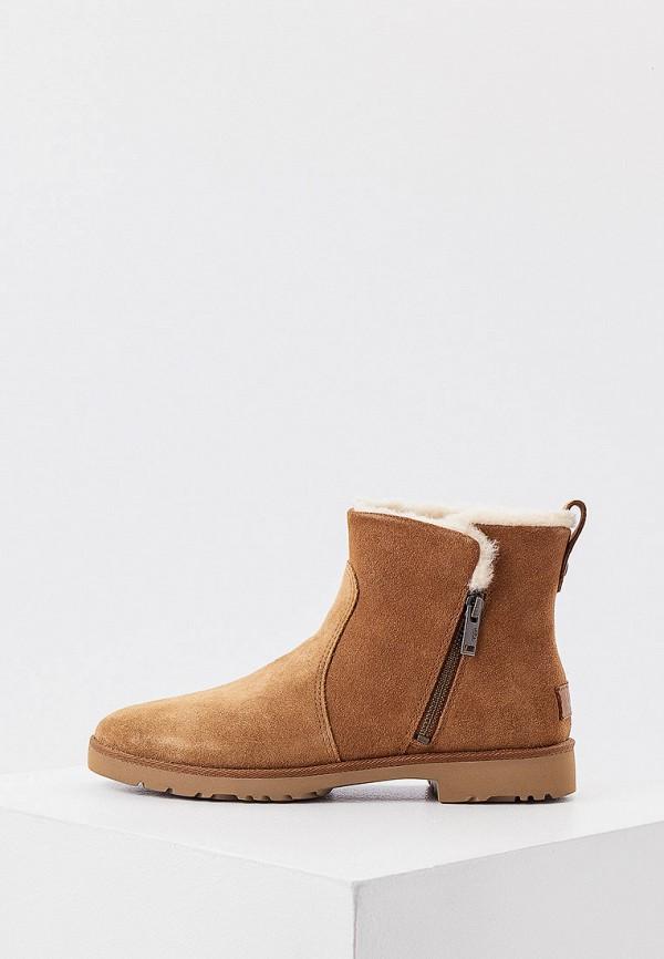 женские высокие ботинки ugg, коричневые