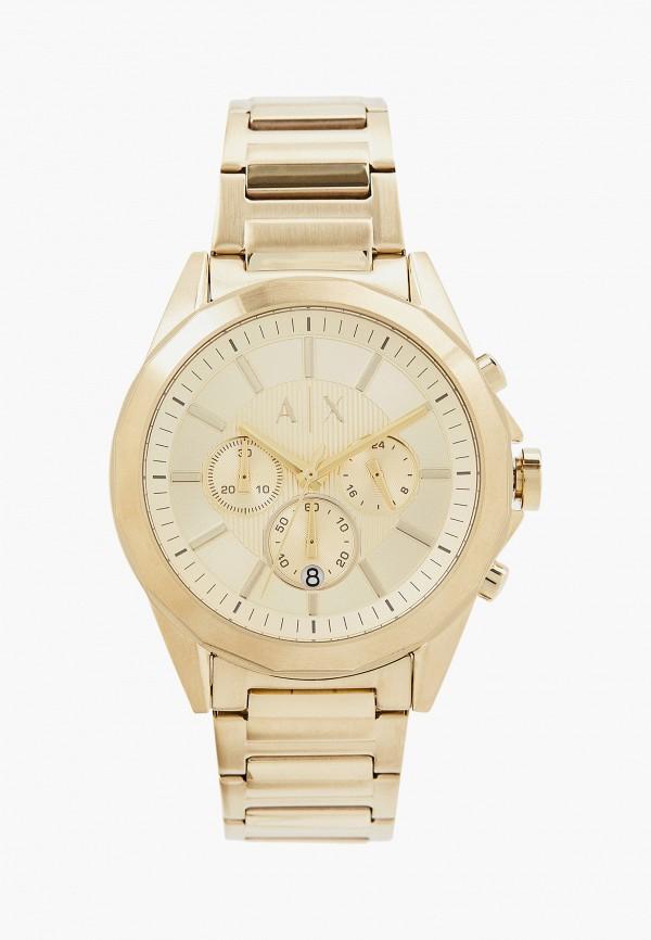 мужские часы armani exchange, золотые