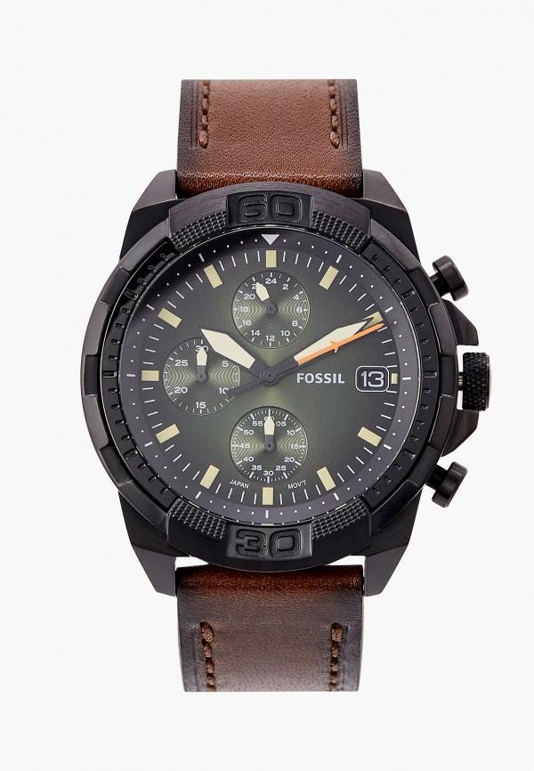 мужские часы fossil, коричневые