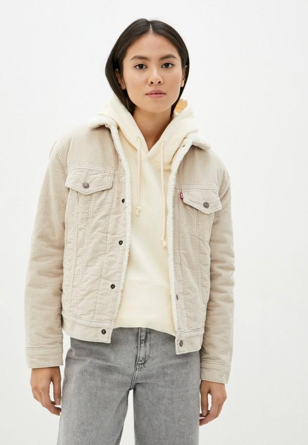 женская джинсовые куртка levi's®, бежевая
