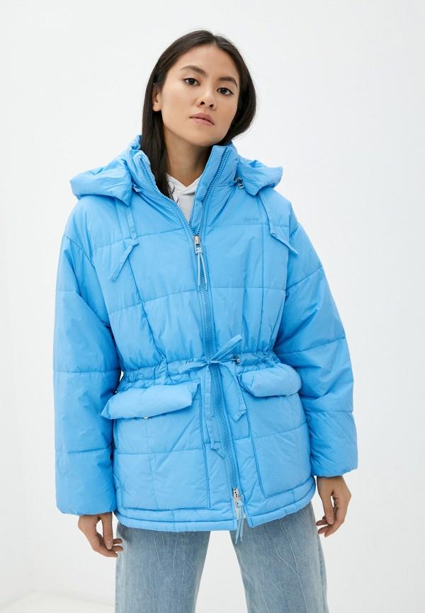 женская утепленные куртка levi's®, голубая