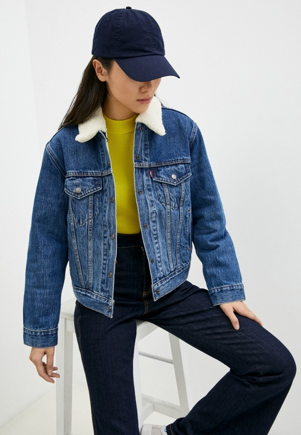 женская джинсовые куртка levi's®, синяя