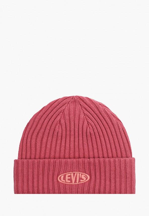 мужская шапка levi's®, розовая