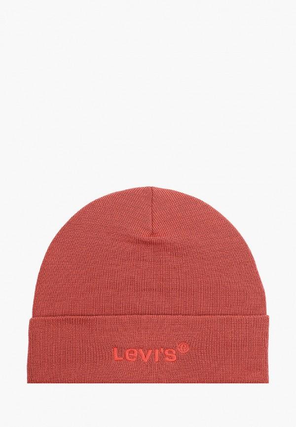женская шапка levi's®, оранжевая
