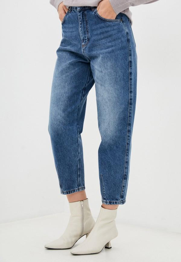 женские джинсы-мом sisley, синие
