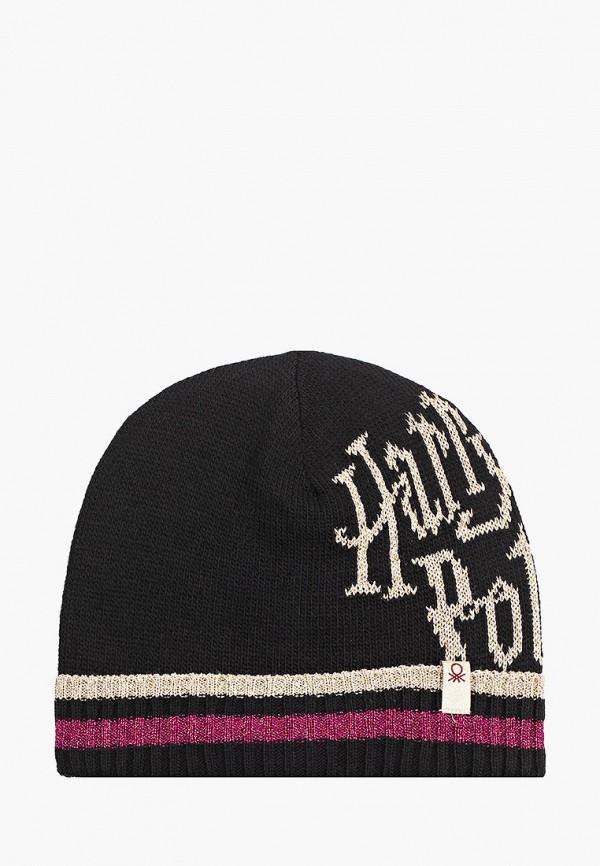 шапка united colors of benetton для девочки, черная