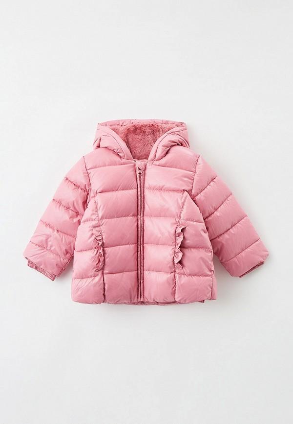 утепленные куртка united colors of benetton для девочки, розовая