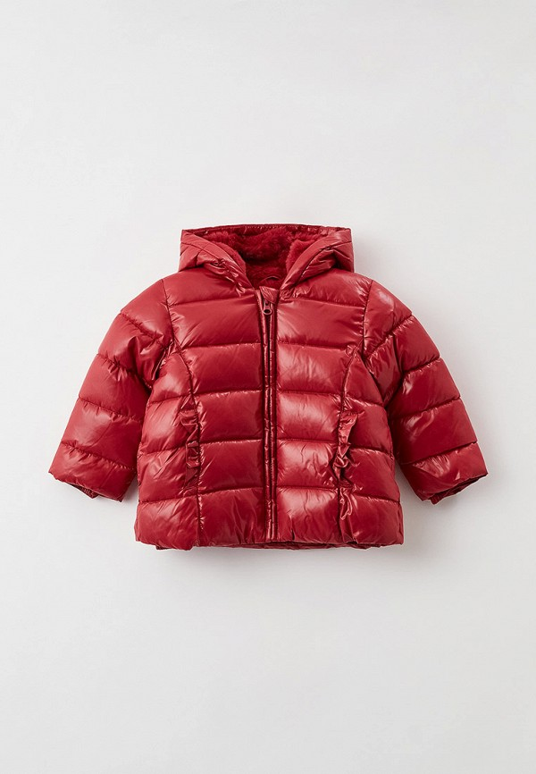 куртка united colors of benetton для девочки, бордовая