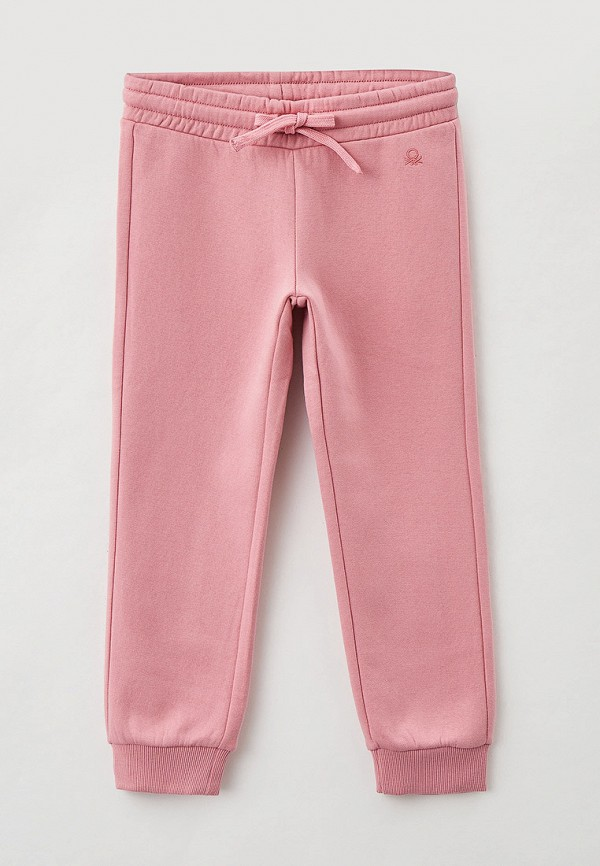 спортивные брюки united colors of benetton для девочки, розовые