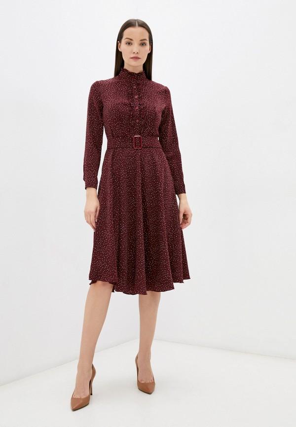 женское повседневные платье pinkkarrot, бордовое