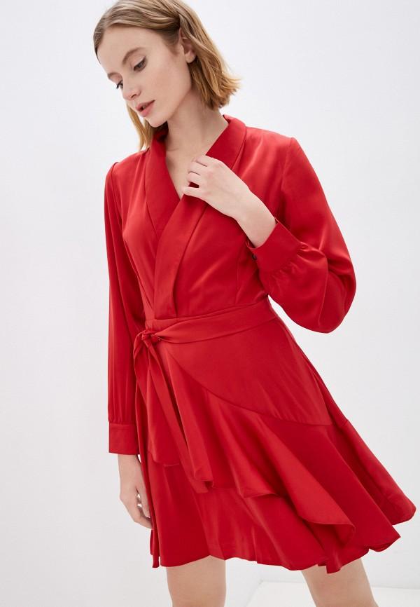 женское платье с запахом pinkkarrot, красное