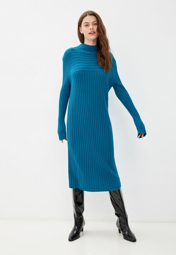 женское платье-свитеры united colors of benetton, бирюзовое