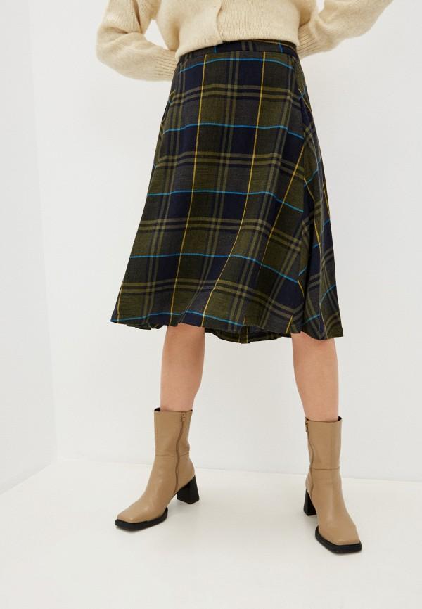 женская юбка-трапеции united colors of benetton, разноцветная