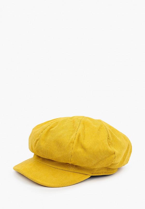 женская кепка united colors of benetton, желтая