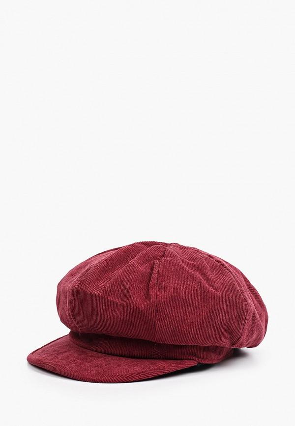 женская кепка united colors of benetton, бордовая