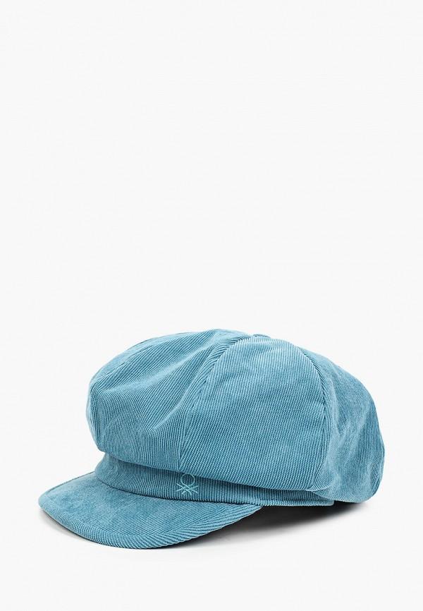 женская кепка united colors of benetton, голубая