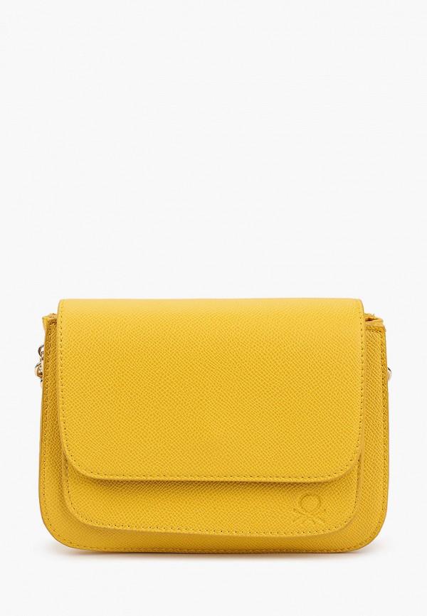 женская сумка united colors of benetton, желтая
